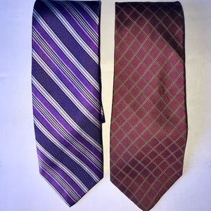 2 silk Ties! Brooks Basics & Robert Talbott